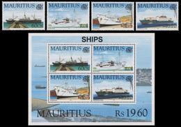 Mauritius 1996 - Mi-Nr. 822-825 & Block 18 ** - MNH - Schiffe / Ships - Mauritius (1968-...)