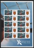 Jersey 2015 - Mi-Nr. 1866 ** - MNH - Halber Smiler Bogen Rechts - Basketball - Jersey