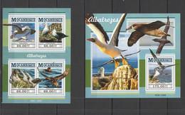 ST2261 2015 MOZAMBIQUE MOCAMBIQUE FAUNA BIRDS ALBATROSSES KB+BL MNH - Marine Web-footed Birds
