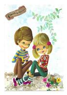 CARTE ILLUSTRATEUR SIGNEE BENI ANNEES 70, COUPLE D ADOLESCENTS, FLEURS, OISEAU, EDITION SEPHERIADES, VOIR LE SCANNER - Other Illustrators