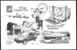ZNE10  500 Ans Poste Européenne - Oblit. Centrale COURCELLES 2 - RRR!!!! - Zwarte/witte Blaadjes