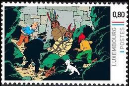 Timbre Privé** - Kuifje / Tintin - Milou / Bobbie - Haddock - Le Temple Du Soleil / De Zonnetempel / Der Sonnentempel - Film