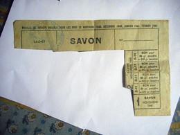 BON DE NECESSITE 1940 ACHAT SAVON LESSIVE BONNEBOSQ CALVADOS - Bons & Nécessité