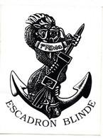(militaria) Autocollant E RIMa  ESCADRON BLINDE   (PPP30387) - Stickers