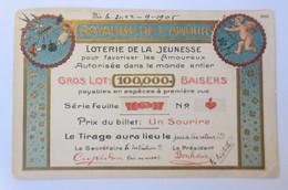 Lotterie De La Jeunesse, Schwein, Pilz, 1905,Prägekarte ♥ (20873) - Neujahr