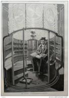 Les Phares - La Lanterne - Un Des Gardiens Faisant Son Quart - Page Original - 1891 - 4 - Documents Historiques