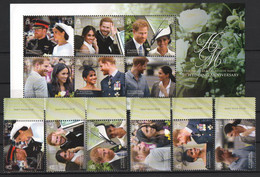 Jersey  2019.   Prine Harry & Megan Royalty. The Duke & Duchess Of Sussex - 1st Wedding Anniversary. MNH - Jersey
