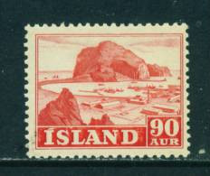 ICELAND - 1950 Pictorial Definitives 90a  Mounted Mint - Unused Stamps