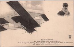 Lyon Aviation - Biplan Farman Piloté Par Paulhan (a Fait Le Raid Londres-Manchester) - Carte S.F. Non Circulée - Reuniones