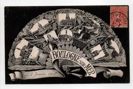 - CPA BOULOGNE-SUR-MER (62) - Multivues 1906 - Edition Galeries Des Deux-Passages - - Boulogne Sur Mer