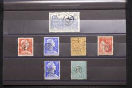 FRANCE - Lot De 7 Oblitérations De Facteurs Sur Divers Timbres, à étudier - L 101167 - 1921-1960: Moderne