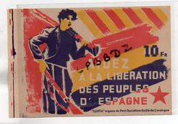 DOCUMENT HISTORIQUE - MILITARIA - GUERRE D'ESPAGNE - PROPAGANDE - Parti Socialiste Unifié De CATALOGNE - Documentos Históricos