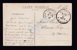 HOPITAUX 14/18 - Carte-Vue En Franchise D'un Belge LOURDES 1917 - Cachet HOPITAL ST FRAI Le Médecin Chef Vers VEURNE - Armada Belga