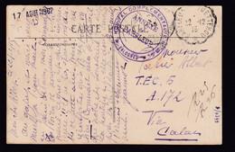 HOPITAUX 14/18 - Carte-Vue En Franchise D'un Belge VALOGNES 1915 - Cachet HOPITAL Complém. No 24 Annexe De BARFLEUR - Armada Belga