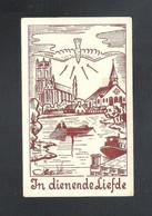 DEVOTIEPRENTJE - H. PRIESTERWIJDING (GENT) EN PLECHTIG DANKOFFER  OMER DE SAERT - BAASRODE-BRIEL  1955(2 Scans) (DV 769) - Imágenes Religiosas