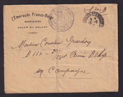 FOYER Du Soldat Belge - Enveloppe Entete L' Emeraude Franco-Belge à DINARD 1916 - Expéd. HOPITAL Compéml. No 64 - Armada Belga