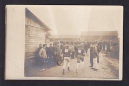 INTERNES BELGES En NL - Carte-Photo Du Camp De OLDEBROEK (Sport) LA HAYE 1916 Vers UTRECHT En Franchise - Otras Zonas
