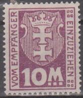 Danzig 1937. Portomarken. Stadtwappen Von Danzig (Gdansk), Mi P24X Ungebraucht Mit Falzrest - Coordination Sectors