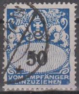 Danzig 1937. Portomarken. Großes Staatswappen, Mi P35 Gestempelt - Coordination Sectors
