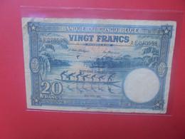 CONGO BELGE 20 FRANCS 1948 Circuler - Banque Du Congo Belge