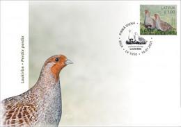 Latvia Lettland Lettonie 2021 (11-1) Birds Of Latvia - Grey Partridge (unaddressed FDC) - Lettonia