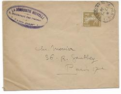 Enveloppe Non Close à 1c Du 17/1/1934 De Paris Pour Paris - 1921-1960: Periodo Moderno