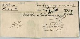 """1849, """" Wien """" Und 2 Kr. Nach Inzersdorf, Stadtpost, A 5117 - ...-1850 Prephilately"""