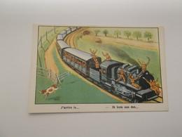 Fantasiekaart: TREIN - TRAIN  - Ik Kom Aan Den ...... - Stations Without Trains