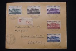 MONACO - Enveloppe En Recommandé Pour La France En 1939, Affranchissement Stade Louis II  - L 101202 - Lettres & Documents