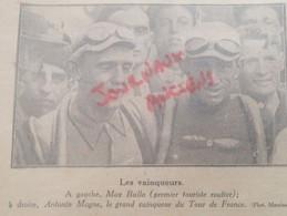 1931 TOUR DE FRANCE CYCLISTE - ANTONIN MAGNE CHAMPION DU TOUR DE FRANCE - MAX BALLA - Other