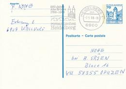 HEIDELBERG  -  1988  ,  200 Jahre Alte Brücke  -  Ganzsache Nach OPUZEN / Kroatien  -  Michel P136 II - Cartes Postales - Oblitérées