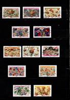 12 Timbres  Adhésifs (lettre Vert  ..)   Oblitérés(2021) (  Motifs De Fleurs  - 2021  ) - Adhesive Stamps