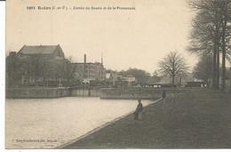 REDON. Entrée Du Bassin Et La Promenade. Les écluses. Canal De Nantes à Brest. écluse. - Redon