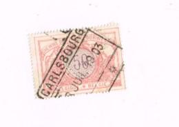 """Oblitération Centrale """"Carlsbourg"""" Sur 50 Centimes. - 1895-1913"""
