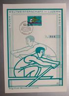 14060 - Luzern-Rotsee Eröffnung Der 1.Ruder-Weltmeisterschaft 6.09.1962 Sur Rare Feuillet PEN Format 14.7 X 21 - Roeisport