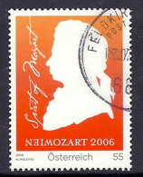 Austria / Osterreich 2006 - Wolfgang Amadeus Mozart, 250th Anniversary, Personality, Composer - Used - 2001-10 Usados
