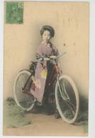 ASIE - JAPON - JAPAN - VELO - Femme Japonaise à Bicyclette - Japanese Woman - Andere