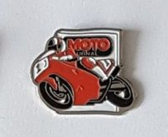 Pin's  Média, Sport  MOTO  Rouge, MOTO  JOURNAL - Motorräder