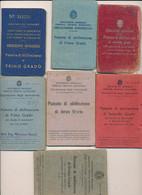 1934/55 PATENTI DI GUIDA PATENTE LOTTO DI 7 COMPLETE DI FOTO E MARCHE DIFFERENTI PER MODELLO - Non Classificati