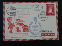 Lettre Cover Montgolfière Ballonpost Flight Pro Juventute 1961 Salzburg Autriche Austria (ref 98090) - Per Palloni