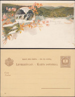 Hungary 1896 - P. Stationery Litho. Postcard, Plitvice Lakes National Park, Croatia. Nacionalni Park Plitvička Jezera. - Entiers Postaux