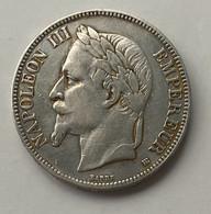 France - Napoléon III - 5F - Silver - 1868 - 25g - J. 5 Francos