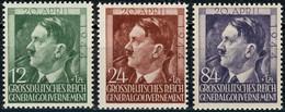 117-119 Geburtstag Hitler 1944, Satz Komplett ** Postfrisch - Occupation 1938-45