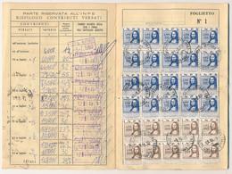 1969/83 2 LIBRETTI INPS CON CENTINAIA SI MARCHE DA 500 1500 3000 - Non Classificati