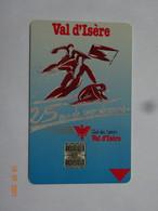 CARTE A PUCE CHIP CARD CARTE FIDÉLITÉ SPORT STATION DE SKI VAL D'ISÈRE  COMPÉTITION - Cartes De Fidélité Et Cadeau