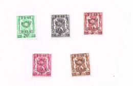 Année 1949.5 Timbres MNH,Neuf Sans Charnière. - Sobreimpresos 1936-51 (Sello Pequeno)