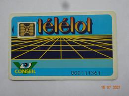 CARTE A PUCE CHIP CARD CARTE FIDÉLITÉ TELELOT  PUBLICITÉ INDUSTRIE BRASSERIE LYON 69 RHÔNE - Cartes De Fidélité Et Cadeau