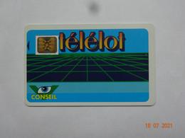 CARTE A PUCE CHIP CARD CARTE FIDÉLITÉ TELELOT  PUBLICITÉ  CARTAPUCE SURVILLIERS 95 - Cartes De Fidélité Et Cadeau