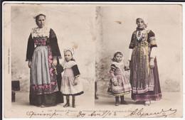 FINISTERE - Enfants Et Femmes De CHÂTEAULIN Et SAINT-NIC, Costumes De Fêtes - Châteaulin