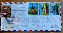 PARAGUAY - REGISTERED PAR AVION FRON ASUNCION TO FIRENZE - ITALY - OLIMPIADI E FERROVIE - Paraguay